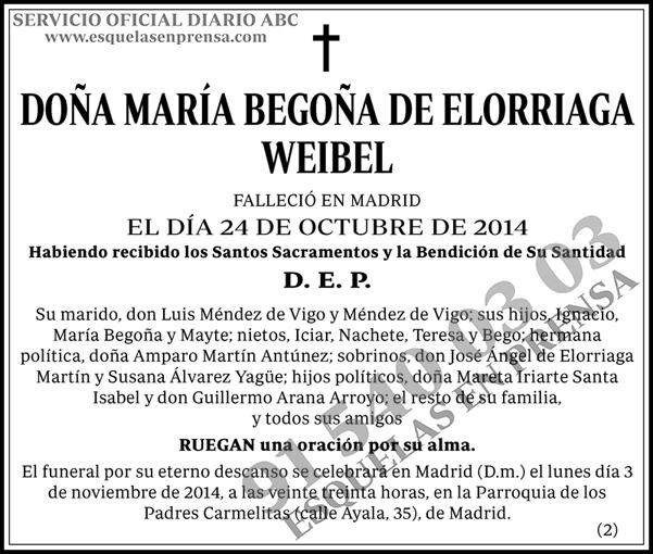 María Begoña de Elorriaga Weibel